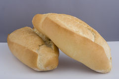 Two loaves of fresh bread. A view of two loaves of freshly baked bread Royalty Free Stock Photo