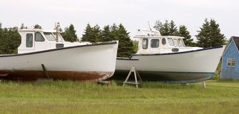 Two Lobster Boats Royalty Free Stock Image