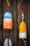 Two Lobster Trap Buoys Stock Image