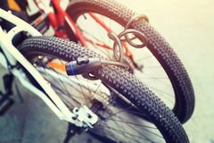 Two locked bike together Royalty Free Stock Photos