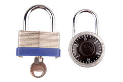 Two locks Royalty Free Stock Photography