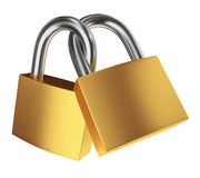 Two locks Stock Image