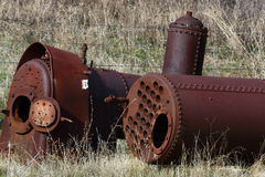 Two Locomotive boilers. From the 1800's Royalty Free Stock Image