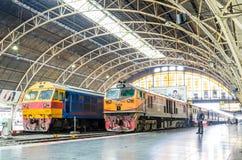 Two locomotive. Stock Photo