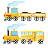 Two locomotives Royalty Free Stock Image