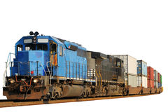 Two locomotives isolated Royalty Free Stock Photo