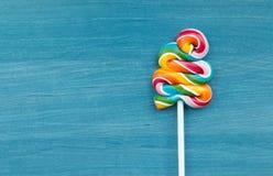 Two lollipop in heart shape Royalty Free Stock Photo