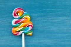 Two lollipop in heart shape Stock Photos