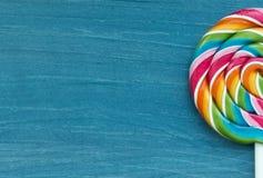 Two lollipop in heart shape Stock Image