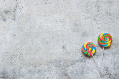 Two lollipops Royalty Free Stock Images