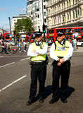 Two London Policemen Royalty Free Stock Image