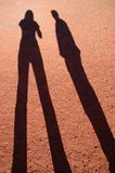 Two Long Shadows Royalty Free Stock Photos
