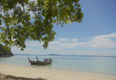 Two long tail boat Thailand Stock Image