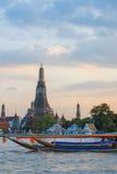 Two Long Tail boats at Wat Arun Royalty Free Stock Photography