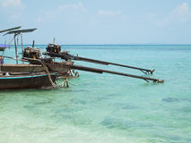 Two longtail boats at the Andaman Sea Stock Images