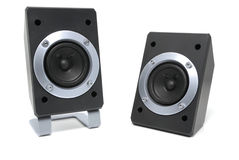 Two loud speakers Stock Photo