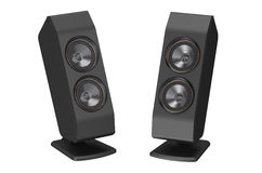 Two loudspeakers Stock Photos