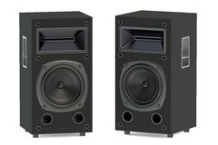 Two loudspeakers Stock Images