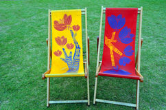 Two lounge chairs Royalty Free Stock Photos