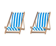 Two loungers on the background Stock Photography