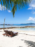 Two loungers on the beautiful beach Stock Photo
