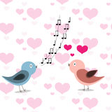 Two in love birds Royalty Free Stock Photography