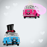 Two in Love Cartoons Royalty Free Stock Photography