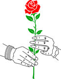 Two love hand. Illustration art of two love hand with isolated background Royalty Free Stock Photos