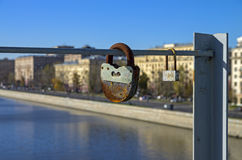 Two love locks. Royalty Free Stock Image