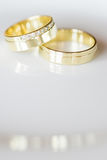 Two lovely golden wedding rings Stock Image
