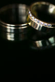 Two lovely golden wedding rings Stock Photography