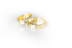 Two lovely golden wedding rings Royalty Free Stock Image
