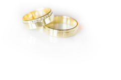 Two lovely golden wedding rings Royalty Free Stock Photography
