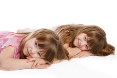 Two lovely little girls Royalty Free Stock Photography