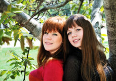Two lovely sisters Royalty Free Stock Photos