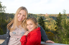 Two lovely sisters Royalty Free Stock Images
