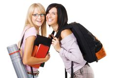 Two lovely students Royalty Free Stock Photos