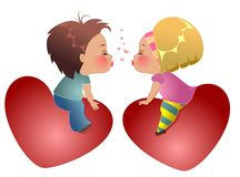 Two lovers children Royalty Free Stock Photo