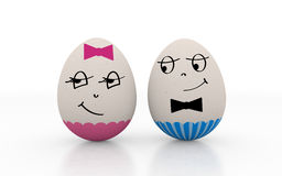 Two lovers easter eggs Stock Photo