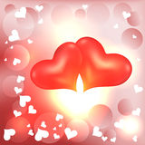 Two lovers heart Stock Photo