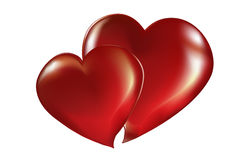 Two lovers heart Royalty Free Stock Photos