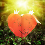 Two lovers hearts Royalty Free Stock Photo