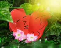 Two lovers hearts Stock Photography