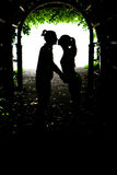 Two lovers kissing Stock Photo
