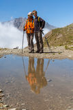 Two lovers in the mountains Royalty Free Stock Photo