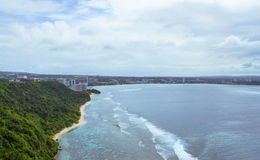 Two Lovers Point View of Resorts. A view from the top of Two Lovers Point in Tamuning, Guam stock photo