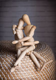 Two Lovers wooden man Royalty Free Stock Photography