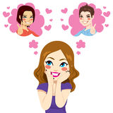 Between Two Loves stock illustration