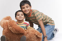 Two loving brothers in indoors Stock Photography