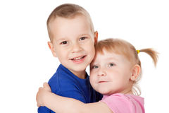 Two loving child Stock Photography